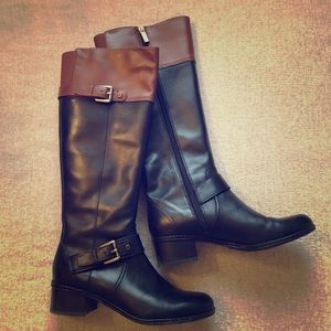 Two-toned Riding Boots